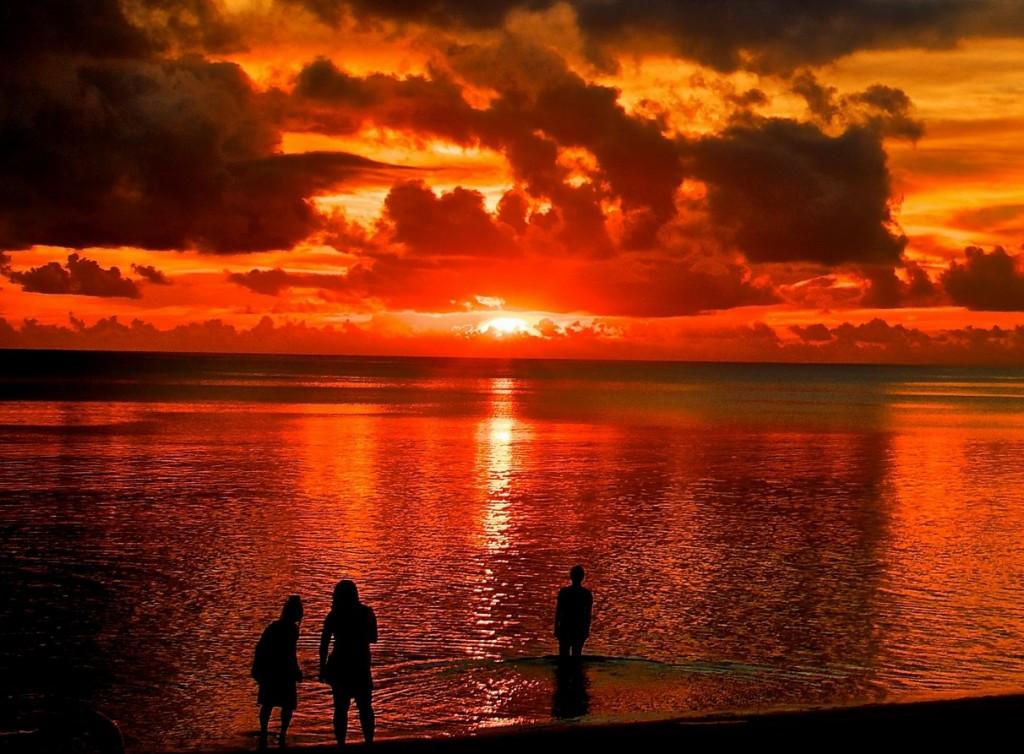 spanien, mallorca, resor, solnedgång, sol, strand, bad, hav