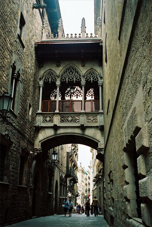 Typisk miljö i El Gotico.