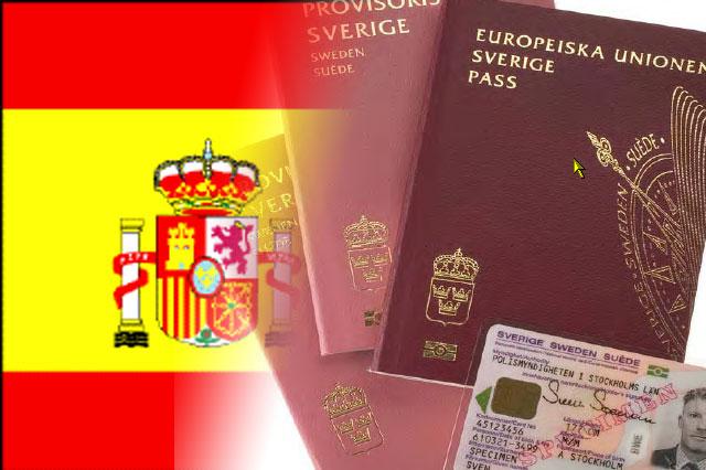 Du behöver inte pass för att resa till Spanien från Sverige.