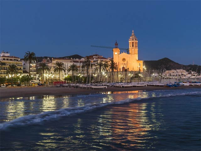 Sitges by night.