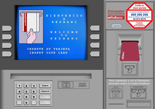 Bankomat i Spanien